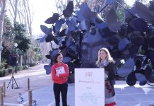 alcaldesa castello escultura papallones