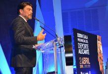 Luis Barcala en la gala esport provincia Alacant